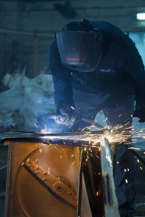 Commercial photography of welding process