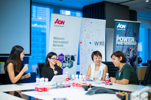 Discussion at AON corporate event