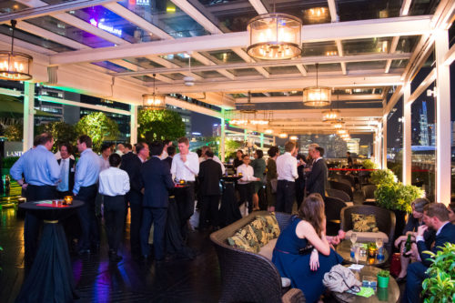 Corporate event at Lantern bar in the evening