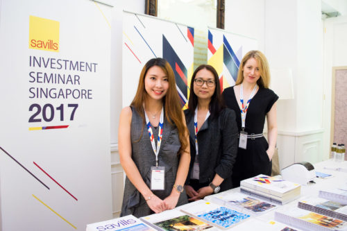 Corporate photograph of team at Investment Seminar Singapore 2017