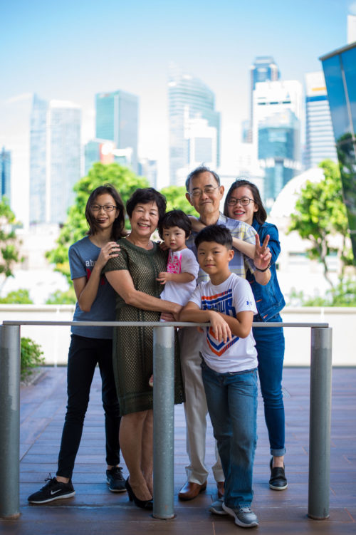 Outdoor family shoot at the CBD